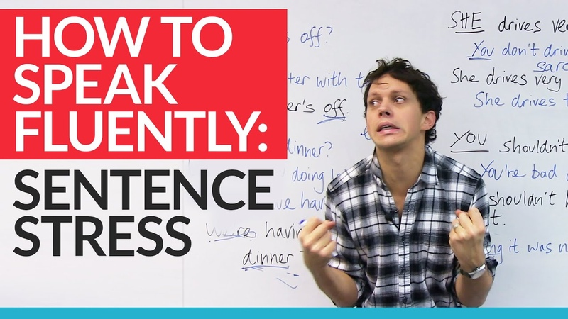 Speak like a NATIVE SPEAKER by using sentence stress in English (with examples!)