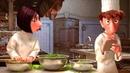 Знак хорошего повара - фартук грязный, рукава чистые. Рататуй (2007) год.