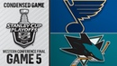 05/19/19 WCF, Gm5: Blues @ Sharks
