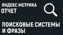 Яндекс Метрика. Отчет о поисковых системах и фразах.