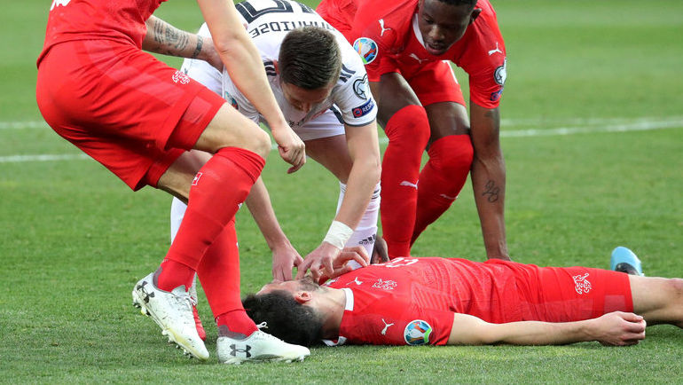 Джано – герой. Ананидзе спас футболиста сборной Швейцарии