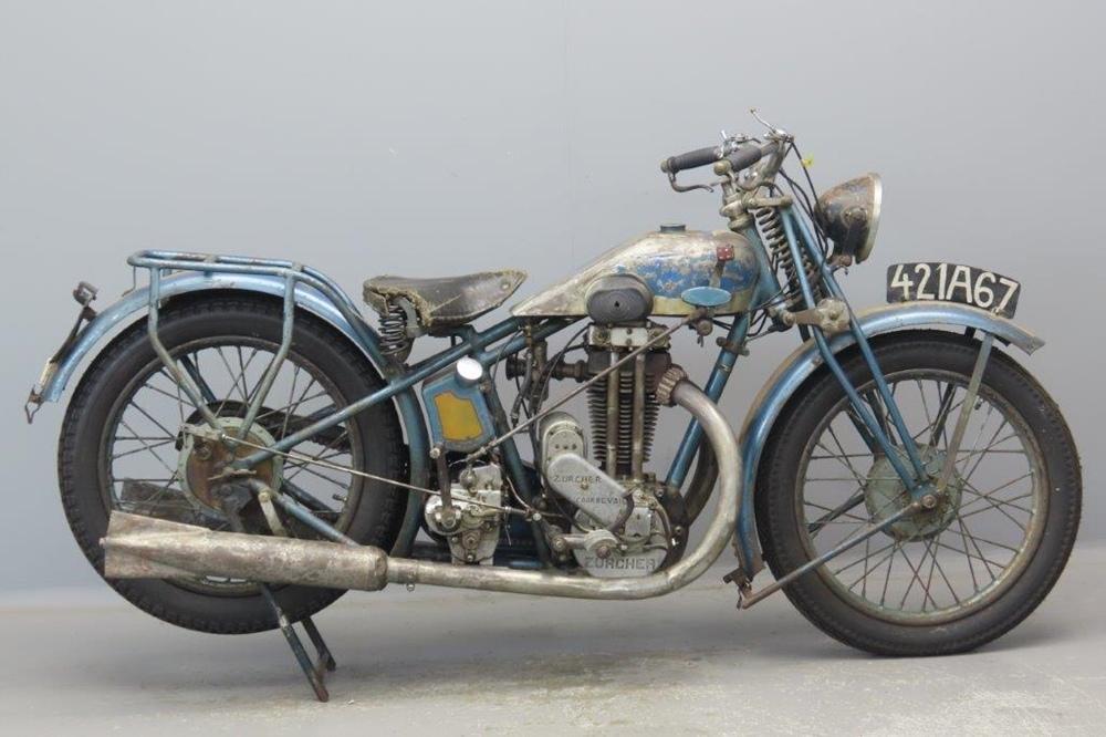 Старинный мотоцикл Thomann Supersport 1929