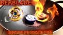 BATTLE ON FIRE: [SLOWMOTION] Flaming Spriggan vs Ice Longinus-Beyblade Burstベイブレードバースト베이블레이드 버스트