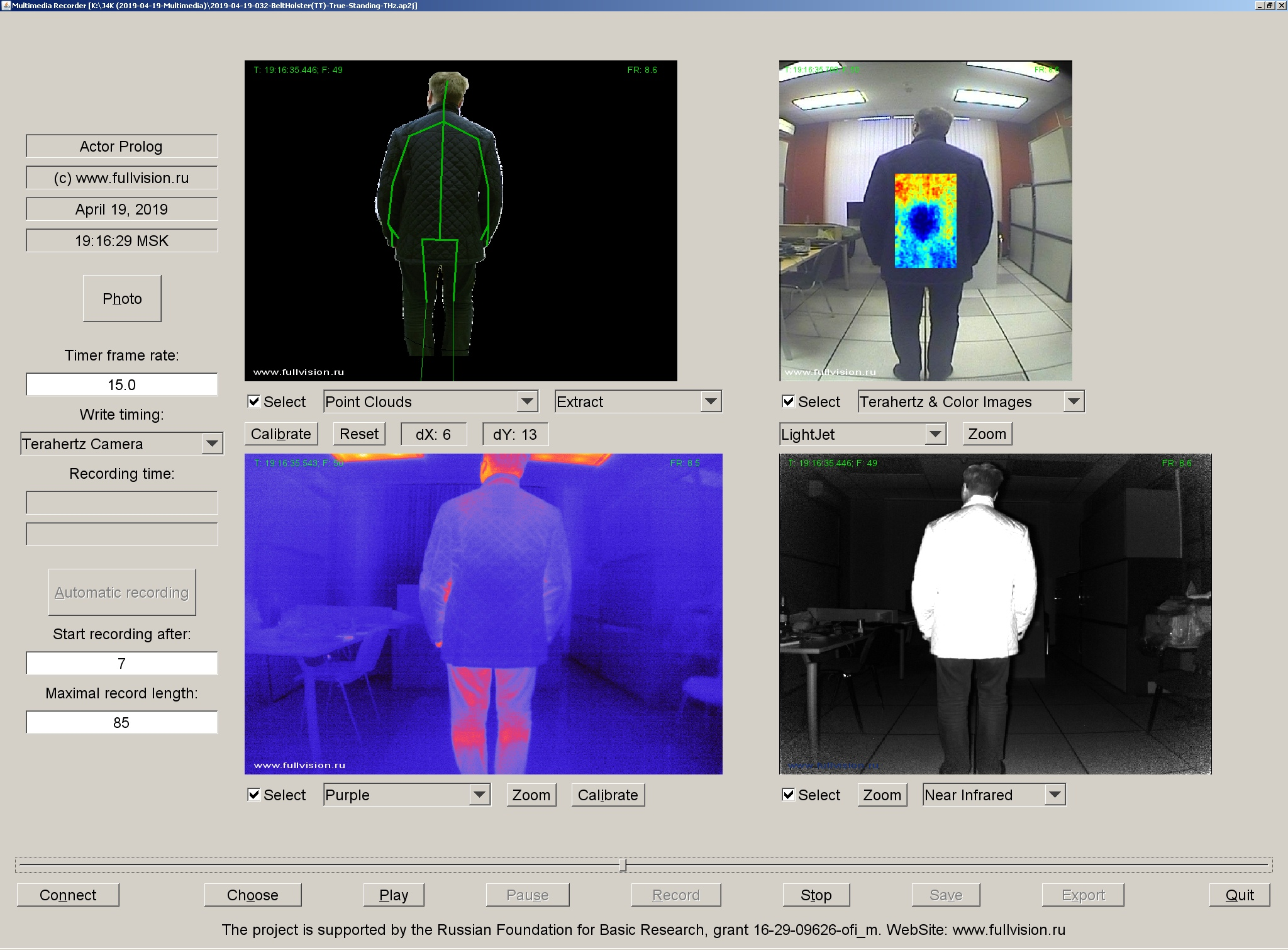 THz and thermal video data set, Thermal imaging, Terahertz images, THz, Terahertz