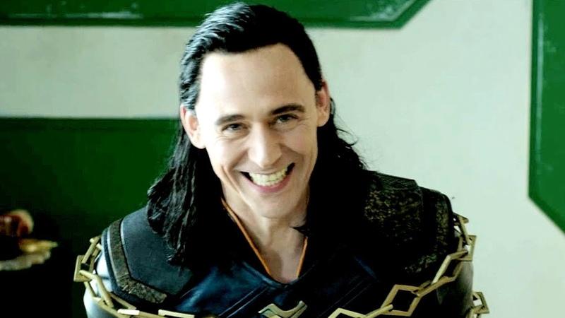 Tom Hiddleston as Loki as Thor. Behind the Scenes