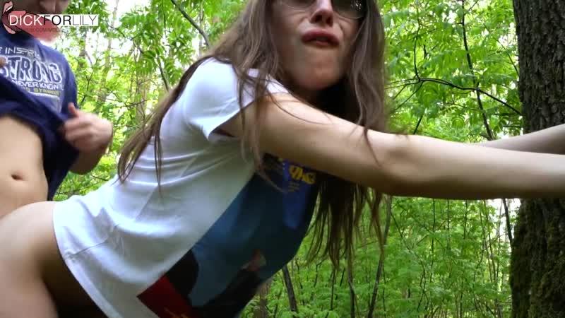 Русский пикапер второй раз обманул шлюху и оттрахал её в парке за фальшивые бабки