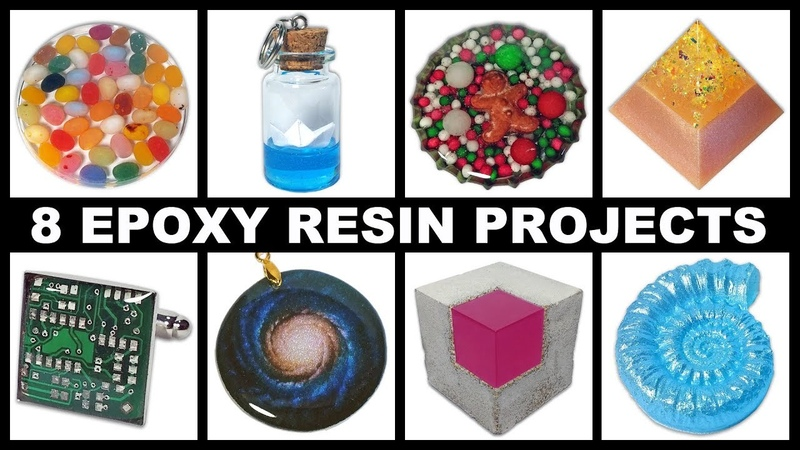 8 Easy Epoxy Resin Projects | Magnets | Paperweights | Cufflinks | Pendants More | DIY Tutorial