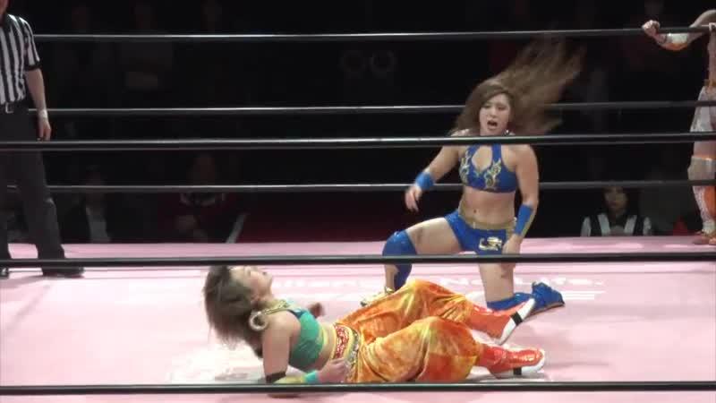 Miyu Yamashita Reika Saiki Marika Kobashi vs Yuka Sakazaki Nodoka Tenma Yuki Aino