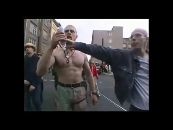 Varg Vikernes defends woman in Oslo, Norway (2004) (rare video)