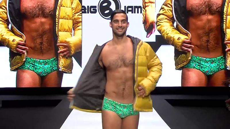 La firma Big Jam en la FeriaModaTFE . Moda hombre y baño.