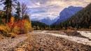 Картинка природа. Осень в горах, Австрия, Карвендель, закат. Sifat gambar