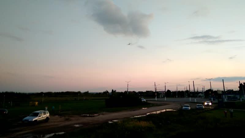 Стрижи Ил-76 сопровождения Чебоксары 2019 взлет 2