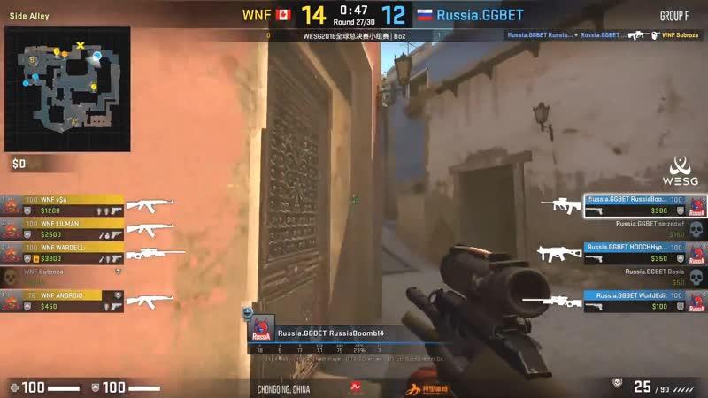 Russia Mirage BoombI4 4k vs Wardell WESG