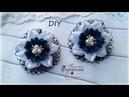 🎀 Цветобанты из атласных лент и кружева 🎀 Канзаши 🎀 Ribbon bow Kanzashi 🎀 Hand мade 🎀 DIY