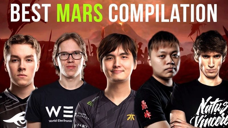 Zai vs Topson vs iceiceice vs Nana vs Dendi - Mars Battle Compilation - Dota 2