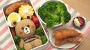 Japanese Lunch Box Cute Bear Bento - お弁当 エビフライEp1