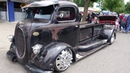 1938 Ford COE mid engine custom with air ride, dually Alcoa 10 lugs, and faux patina