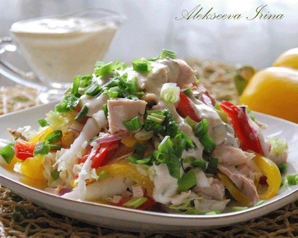 Подборка салатов с куриным филе!