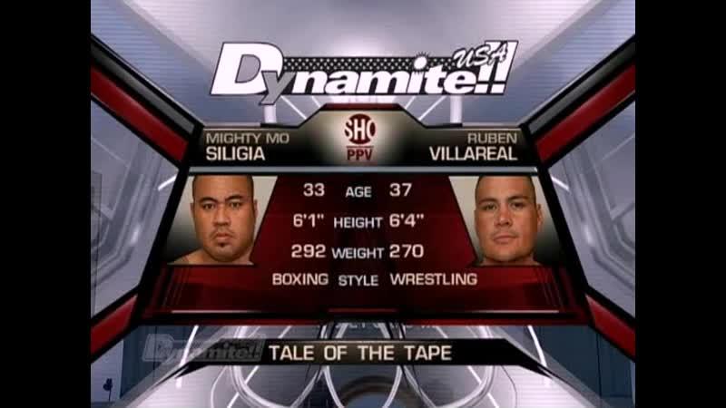 Myghty Mo vs Ruben Villareal - Dynamite - USA -