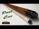 Woodturning Bocote and Maple Pool Cue