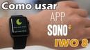 Iwo 8 SmartWatch me ajudando a DORMIR! como ativar monitor do sono