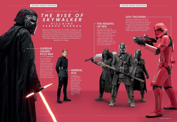Персонажи девятого эпизода «Звездных войн» на страницах журнала Star Wars Insider