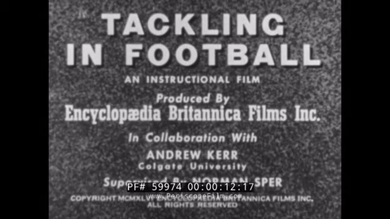 LEATHER HELMET ERA TACKLING IN FOOTBALL INSTRUCTIONAL 1940s COLGATE U FOOTBALL TEAM 59974