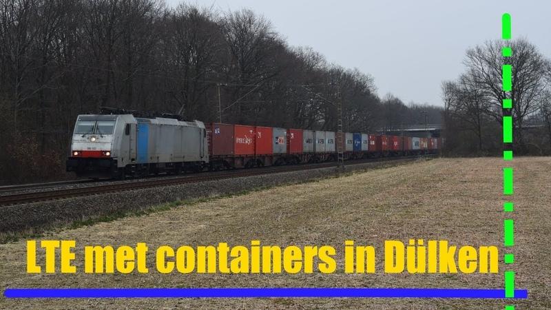 LTE 186 102 komt met containertrein door Dülken