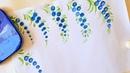 Мой блог о Петриковской росписи. Выпуск №8 Рисуем смородину, виноград и цветы пальцами