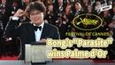 Bong Joon-ho's film 'Parasite' wins Palme d'Or at Cannes