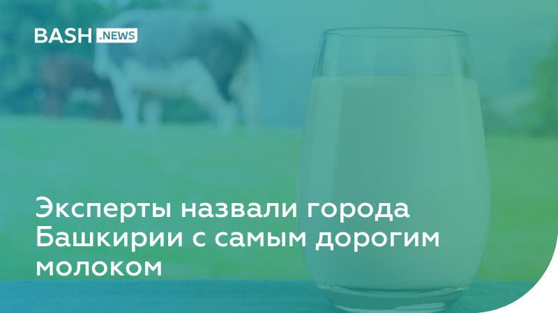 Эксперты назвали города Башкирии с самым дорогим молоком
