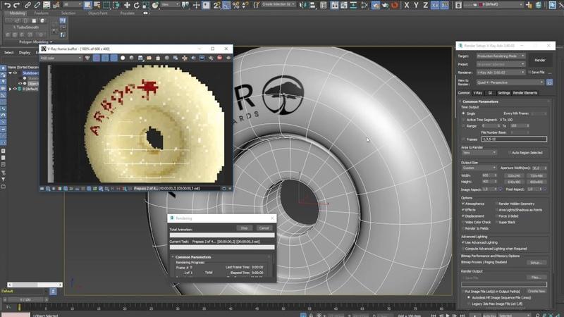 3Ds Max. Как сделать развёртку. Модификатор Unwrap UVW. Логотип на колесе.