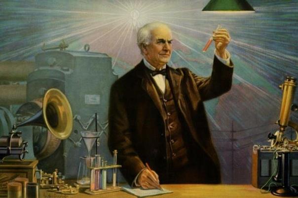 Томас Эдисон пытался разработать вертолёт, который должен был работать на порохе