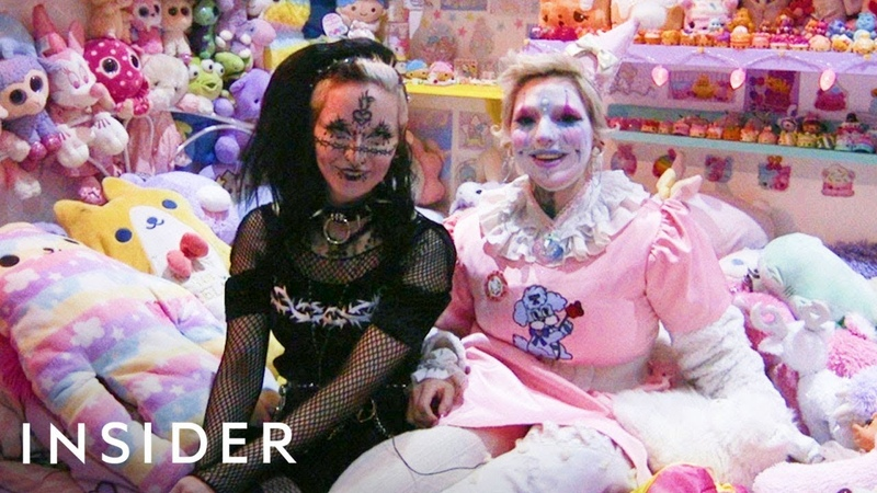 Best Friends Have Completely Opposite Styles: Goth And Lolita