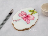 Majestic Hibiscus Flower Cookie