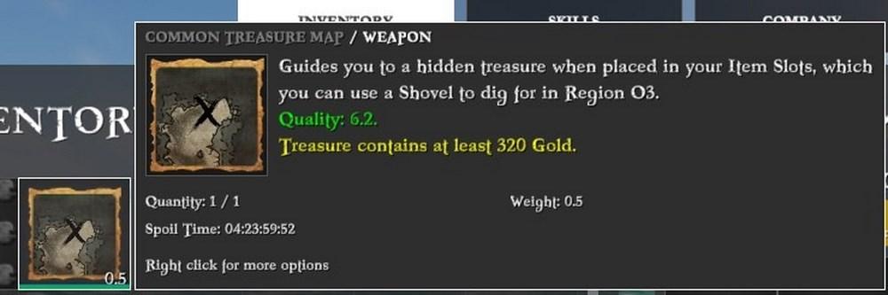 Награда в карте сокровищ в Atlas