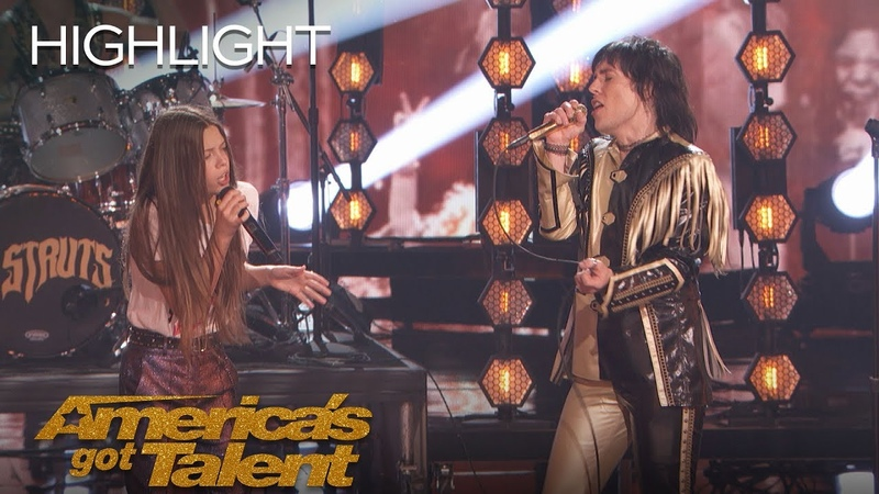 Courtney Hadwin And The Struts Rock The Stage With A Janis Joplin Hit America's Got Talent 2018
