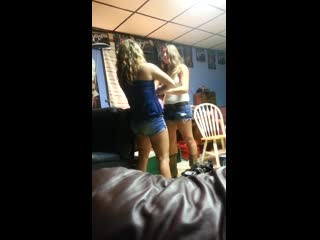 Girls fighting at a party