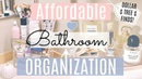 Cheap Bathroom Organization Ideas! Dollar Tree Organization/Clean with me/ Radiate Lifestyle