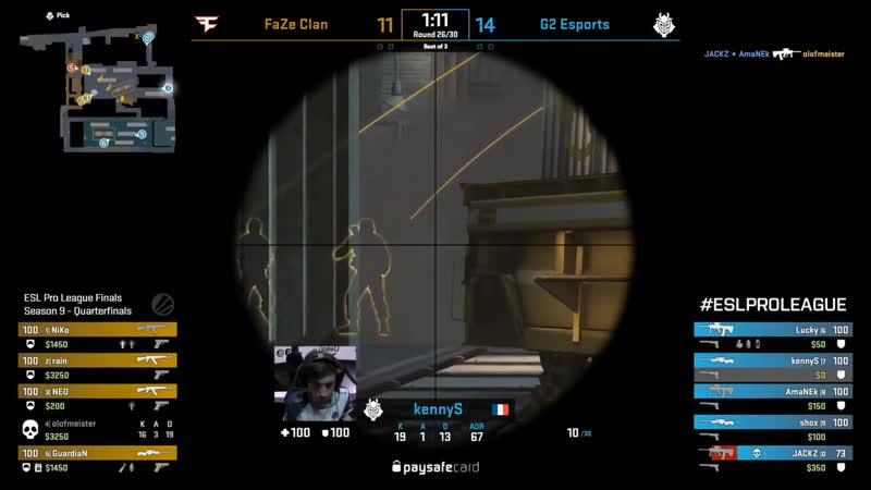 KennyS triple kill hold to earn map point (Train)