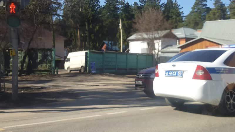 Авария на Быковском шоссе Малаховка