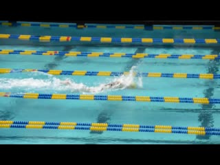 Tony ervin swimming 50 free in 20.78 during a break of cal stanford womens dual