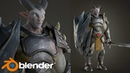 Blender 3D - Character Modeling, Texturing, Rendering
