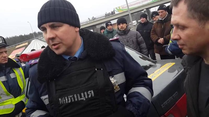 Кордон №1 Едем в Киев 19 02 2014 Житомирская трасса 30 км до Киева