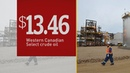 Canadian crude oil price falls to record low