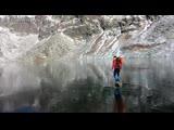 Совершенно прозрачный лёд на озере.mp4