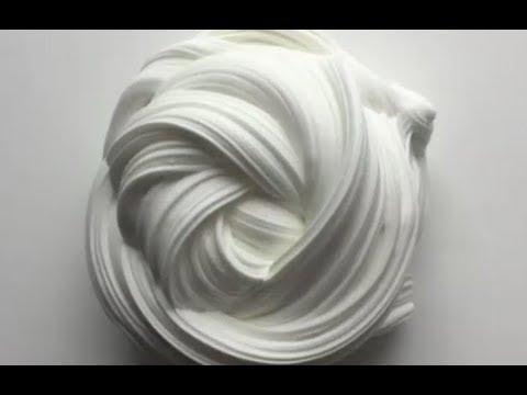 DIY  Флаффи Слайм  Самый крутой слайм😍😍  Из пены для бритья и клея ПВА  👍👌