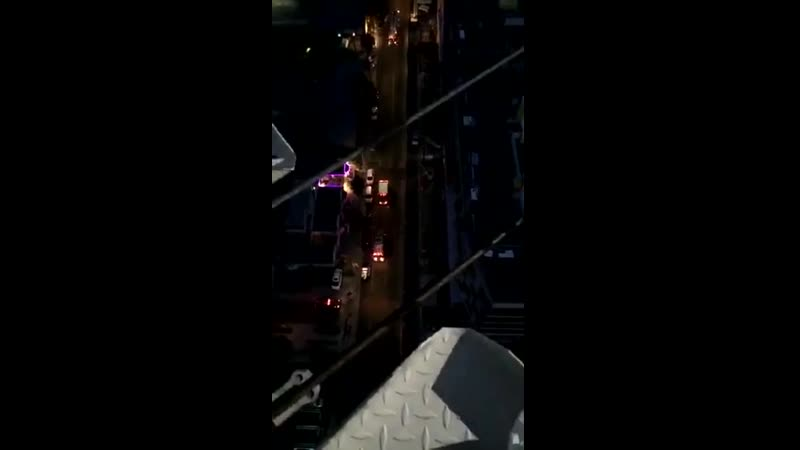 Steve-O climbs a crane to protest Sea World, ends up shutting down Hollywood.