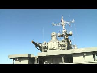 Стрельба ракетных катеров «Ивановец» и «Р-60» из комплекса «Москит»