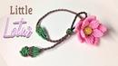 So cute is this macrame little lotus bracelet - Thắt dây vòng tay hoa sen nhỏ cực kỳ gái tánh